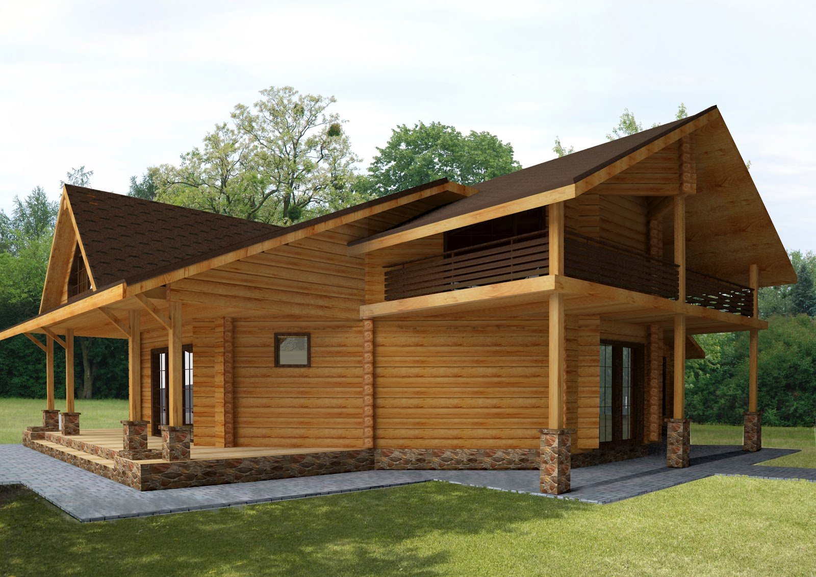 Принципы постройки дома из дерева