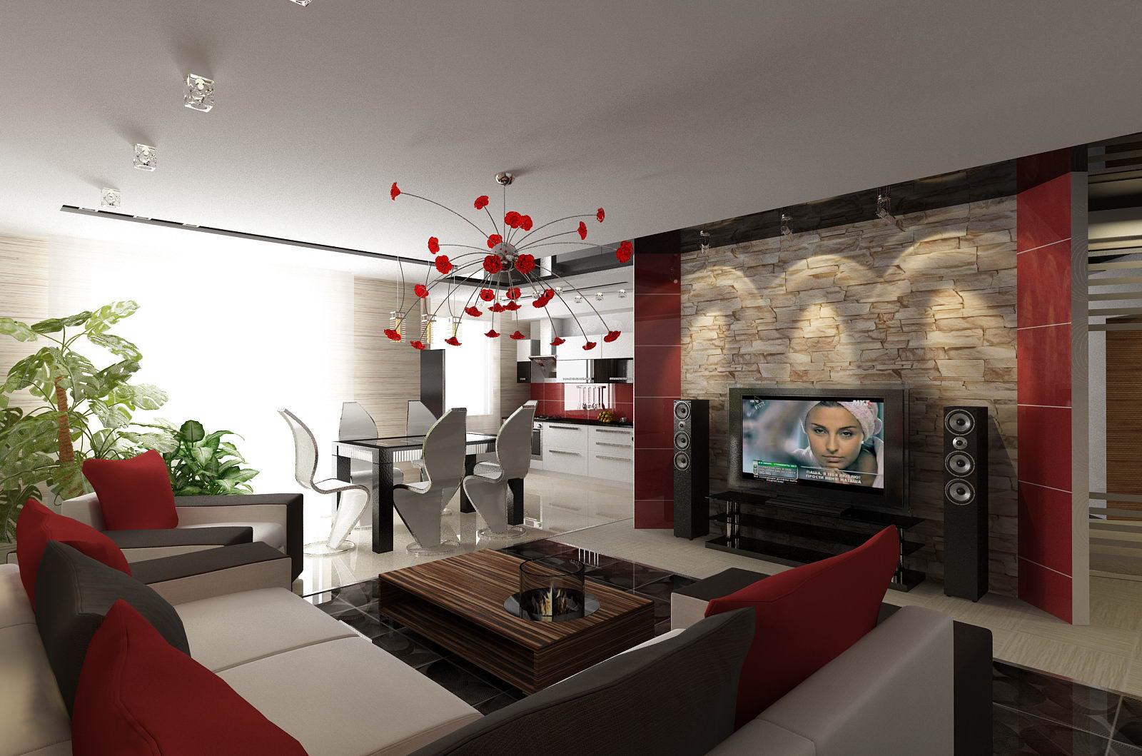 Уютная гостиная комната