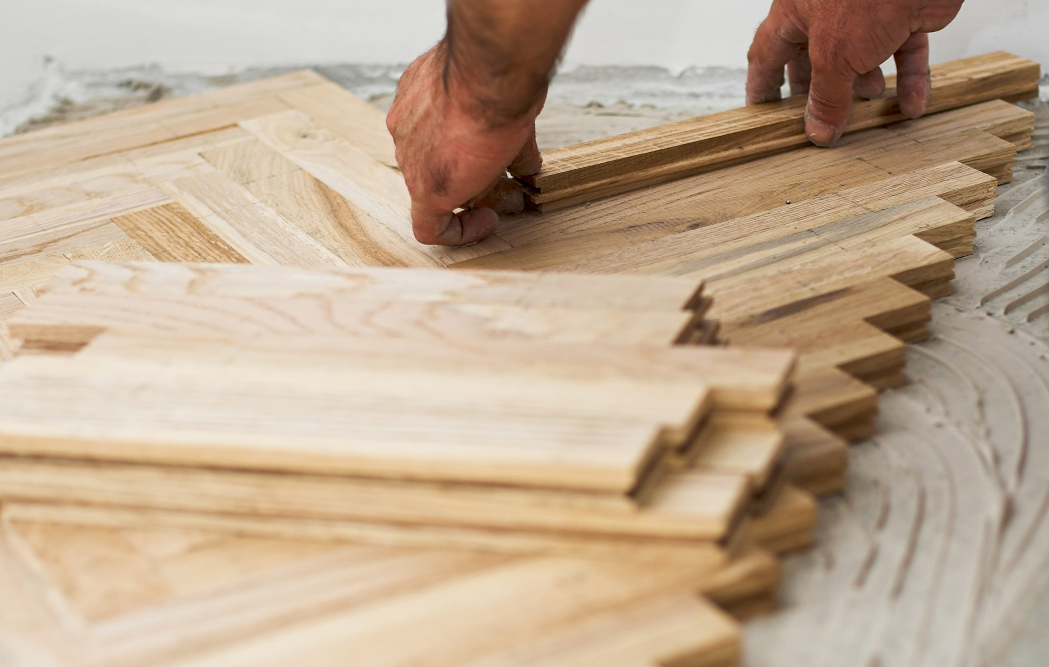 Ремонт полов из лиственных пород древесины