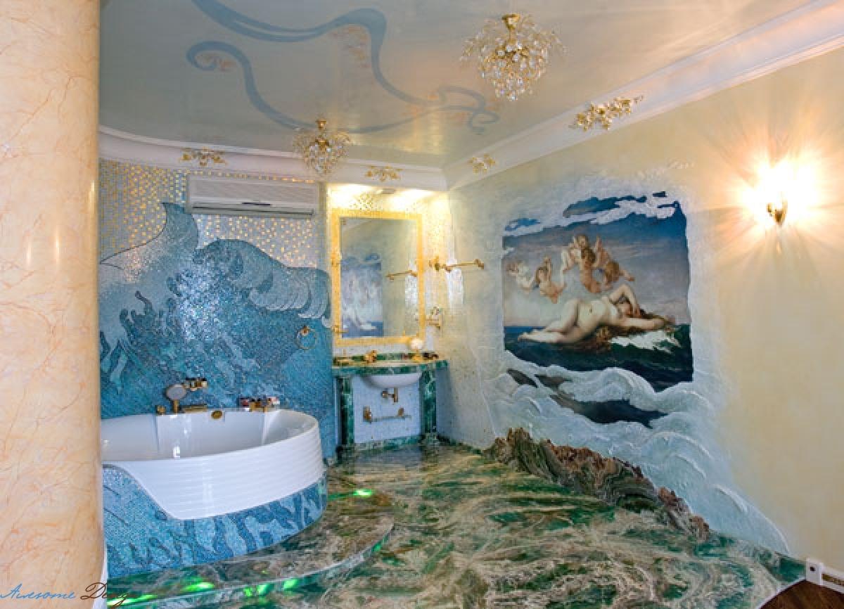 Варианта дизайна интерьера в ванной комнате