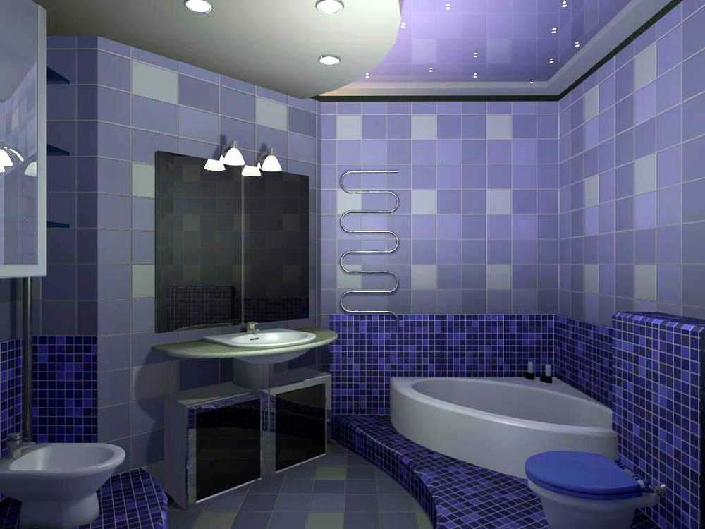 Дизайна интерьера в ванной комнате