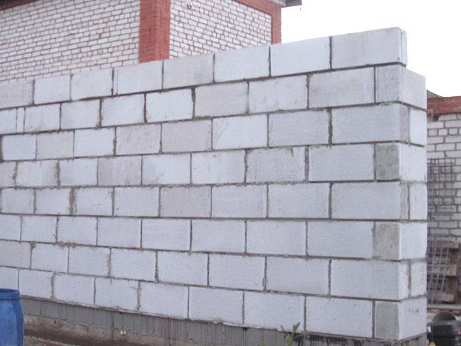 Отделка стен из газосиликатных блоков