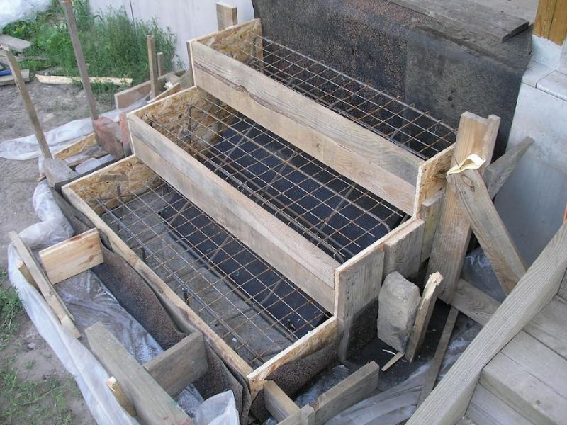 Крыльцо своими руками из бетона