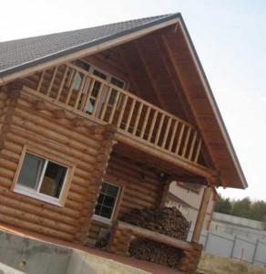строительство дома из рубленного бревна