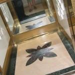 Рисунки на кафельной плитке — использование трафарета