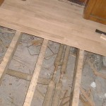 Укладка деревянного пола на лаги