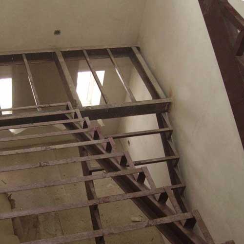 Металлокаркас для лестницы своими руками