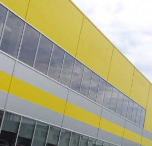 отделка фасадов промышленных зданий