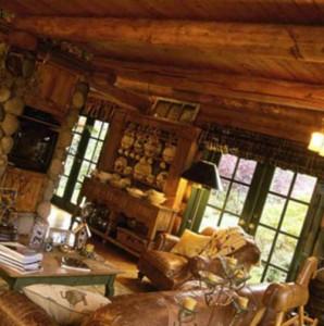 интерьер одноэтажного деревянного дома