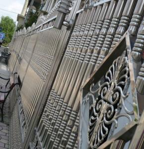 нержавеющий забор