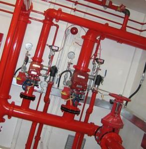 система водяного автоматического пожаротушения