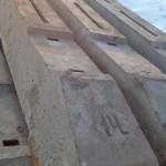 Фундамент из железобетонных шпал