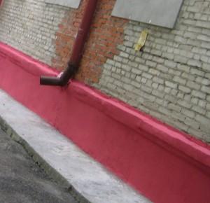 покраска цоколя здания