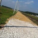 Отсыпка дороги щебнем