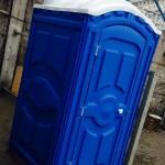 Временный туалет на стройке