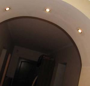 Устройство арки внутри помещения