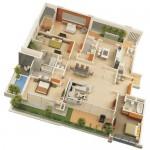 Проекты коттеджей с 3d моделями
