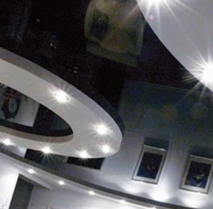 сочетание натяжного потолка с гипсокартоном