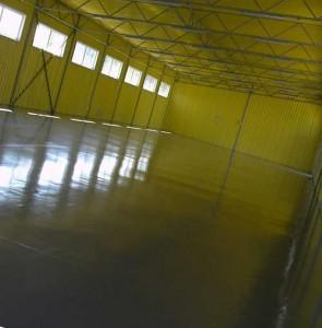 ремонт пола производственного помещения
