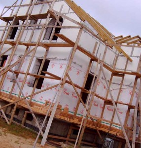 подготовка материалов для строительства дома