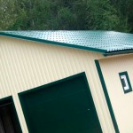 Крыша гаража из профнастила