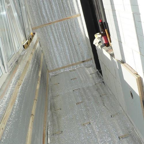 Пенофол крыша балкона. - лоджии - каталог статей - балкончик.