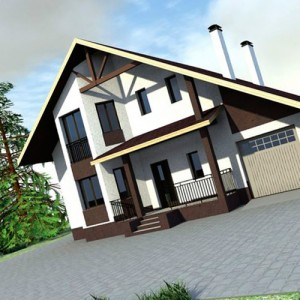 интересные проекты домов с мансардой