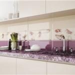 Особенности плиточных фартуков для кухни