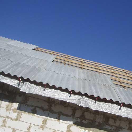 Укладка Шифера На Плоскую Крышу