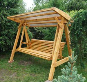 деревянные качели для сада