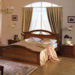 Дизайн спальни из натурального дерева